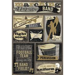 Cardstock Sticker Marching Band