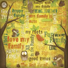 12 x 12 Ancestry Papers Family Fun Collage