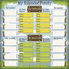 12 x 12 Ancestry Papers My Family Chart