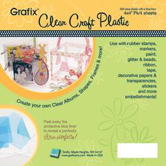 Grafix 4 x 4 Clear Craft Plastic