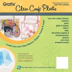 Grafix 6 x 6 Clear Craft Plastic