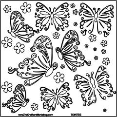 "12"" x 12"" Design Template Butterflies"