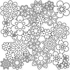 """12"""" x 12"""" Design Template Gathered Flowers"""