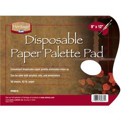 """Heritage Disposable White Paper Palette Pad 9"""" x 12"""""""
