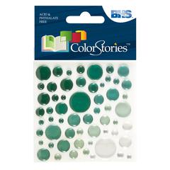 Epoxy Color Spots Stickers Green