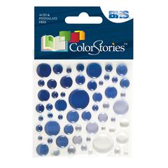 Epoxy Color Spots Stickers Blue