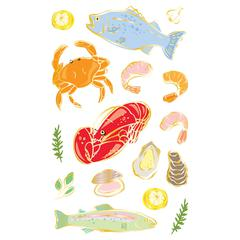 Mrs. Grossman's Giant Size Sheet Stickers Seafood