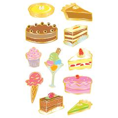 Mrs. Grossman's Giant Size Sheet Stickers Desserts
