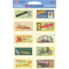 Cardstock Stickers Mixed Stamps