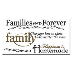 Craft Décor Wall Art Families Are Forever