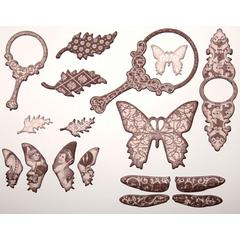 Glimmer Chips Self-Adhesive Chipboard Embellishments Nature
