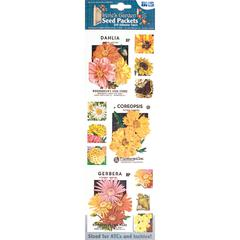 Seed Packet Fabric Stickers Yellow