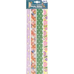 "Blue Hills Studio Irene's Garden Fabric 12"" Border Stickers Multi 2"