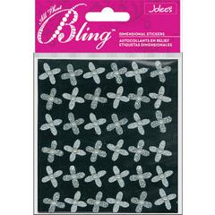 Jolee's Boutique All That Bling Boutique Sticker Silver Mini Flowers
