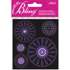 Boutique Sticker Purple Dot Flowers