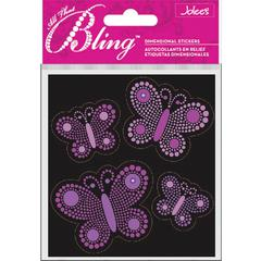Jolee's Boutique All That Bling Boutique Sticker Purple Butterflies
