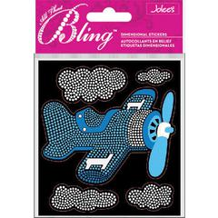 Boutique Sticker Blue Plane