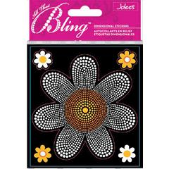 Jolee's Boutique All That Bling Boutique Sticker White/Yellow Daisy