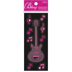 Jolee's Boutique All That Bling Slim Stickers Guitar
