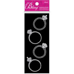 Slim Stickers Silver Rings
