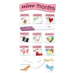 Jolee's Boutique Sticker 9 Months Pregnancy
