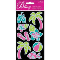 Jolee's Boutique All That Bling Le Grande Outline Stickers Beach