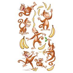 Classic Stickers Dancing Monkeys