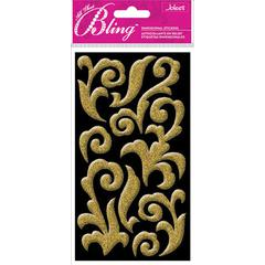 Jolee's Boutique All That Bling Le Grande Puffy Stickers Gold Flourish