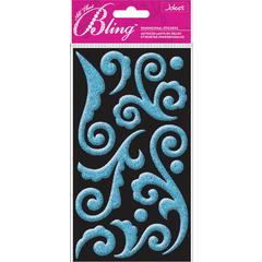 Jolee's Boutique All That Bling Le Grande Puffy Stickers Blue Flourish