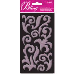 Jolee's Boutique All That Bling Le Grande Puffy Stickers Light Pink Flourish