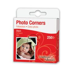 Scrapbook Adhesives Mylar Photo Corners Black
