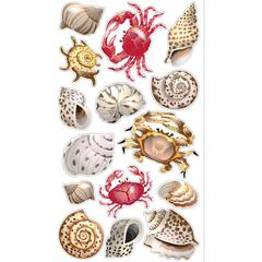 Classic Stickers Shells & Crabs