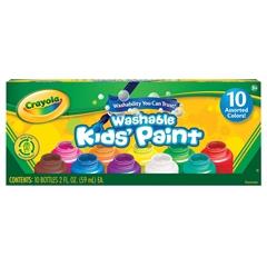 Crayola Washable Kids' Paint 10-Color Bottle Set