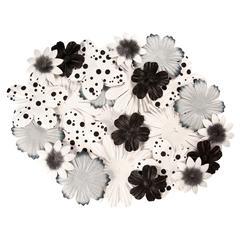 Blue Hills Studio Irene's Garden Bag O'Blooms Black & White