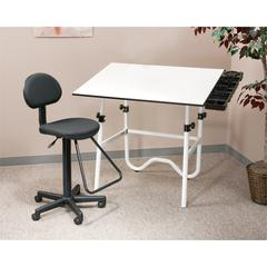 Creative Center White Base with Drafting Chair