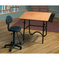 Alvin CC Series Creative Center Black Base with Drafting Chair
