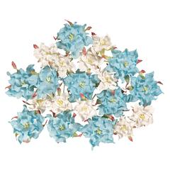 Dimensional Paper Flowers Blue/White