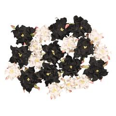 Dimensional Paper Flowers Black/White