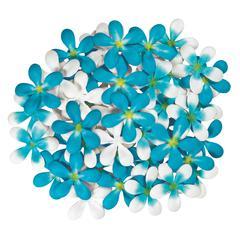 Blue Hills Studio Irene's Garden Pack O'Plumerias Blue Splash