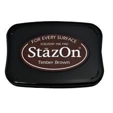 StazOn Solvent Ink Pad Timber Brown