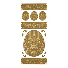 Blue Hills Studio DesignLines Outline Stickers Gold #15