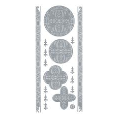 Blue Hills Studio DesignLines Outline Stickers Silver #28