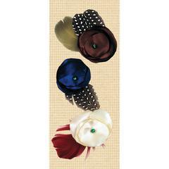 K & Company Handmade Embellishments Satin Flower Fabric Art