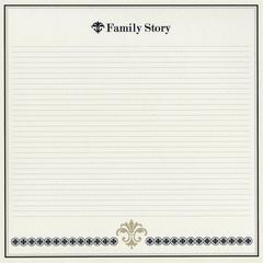 "12"" x 12"" Cardstock Family Story"