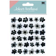 Jolee's Boutique Sticker Black Flowers