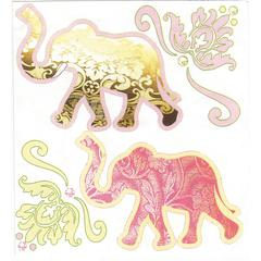 Stickers Paisley Elephants