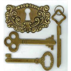 Jolee's Boutique Stickers Antique Keys