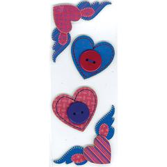 Slim Sticker Hearts with Wing