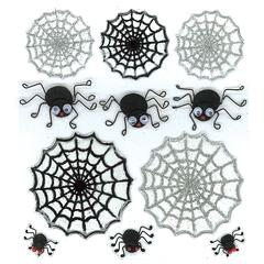 Sticker Cute Spiders & Web