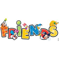3-D Title Stickers Friends